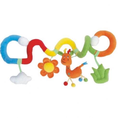 Spirala plush Baby Mix Girafa