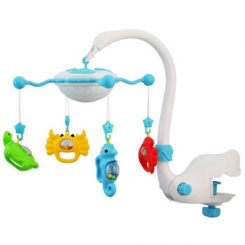 Carusel muzical Baby Mix Aqua Magic albastru