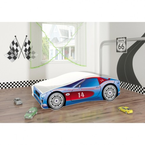 Patut tineret MyKids Race Car 02 Blue 140x70