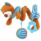 Spirala cu jucarii Baby Mix Bear blue