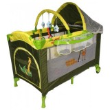 Patut pliabil Arti Deluxe Plus-go cu 2 nivele green giraffe
