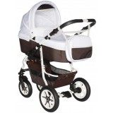 Carucior Pj Baby Pj Stroller Comfort 2 in 1 white brown