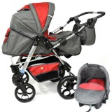 Carucior Skutt Rocada 2 in 1 graphite red