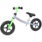 Bicicleta fara pedale Kidcity Mamakids gri cu verde