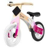 Bicicleta din lemn fara pedale Lionelo Willy bubblegum