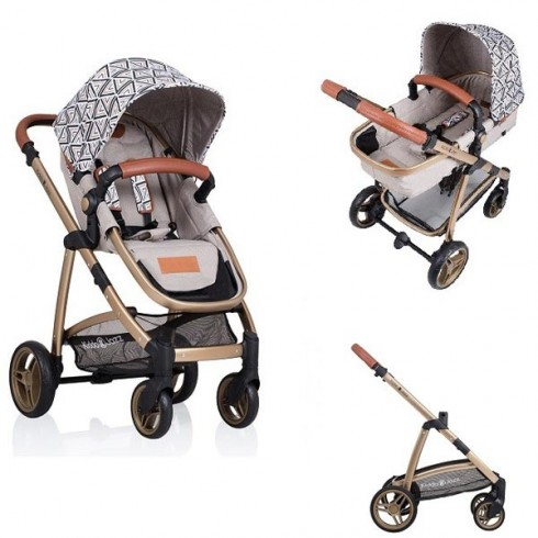 Carucior Kiddo Jazz sand gold triangle