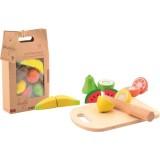 Set jucarii din lemn Joueco fructe feliate