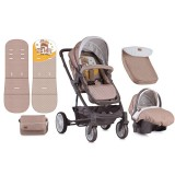 Carucior Lorelli S-500 2 in 1 beige & yellow Happy Family