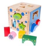 Cub educativ din lemn Ecotoys 2047