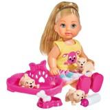 Papusa Simba Evi Love Puppy Love papusa 12 cm cu 3 catelusi si accesorii {WWWWWproduct_manufacturerWWWWW}ZZZZZ]