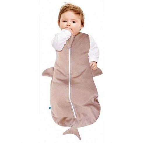 Sac de dormit Wallaboo Fun Animal 2 in 1 shark taupe