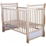 Patut copii din lemn Babyneeds Jas 120x60 cm natur