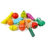 Set Ecotoys HM015202 Fructe si legume din lemn