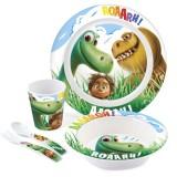 Set pentru luat masa Lulabi 5 piese Bunul Dinozaur