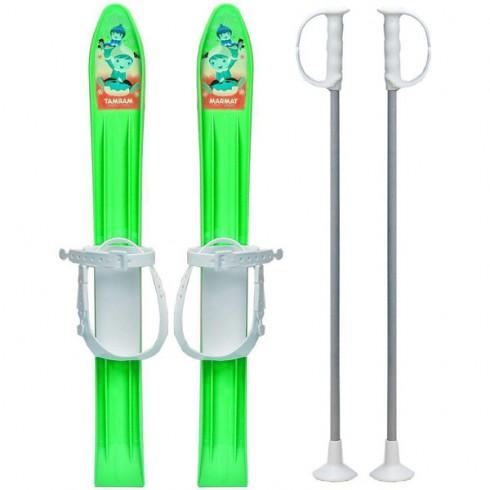 Skiuri copii Marmat 60 cm Verde