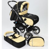 Carucior Baby Merc Junior Plus 2 in 1 Black yellow