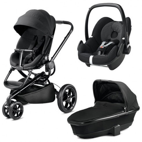 Carucior Quinny Moodd 3 in 1 black devotion