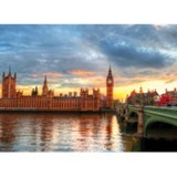 Puzzle Educa Suset on the river Thames 1000 piese