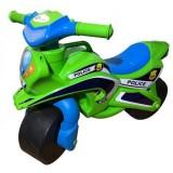 Motocicleta de impins MyKids Police Music 013952 verde albastru