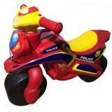 Motocicleta de impins MyKids Police Music 013956 rosu galben