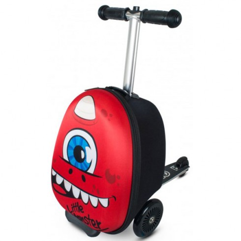 Trotineta cu rucsac Zinc Flyte scooter & case 2 in 1 Sid the Cyclops red