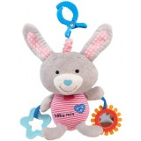 Jucarie muzicala plus Baby Mix Grey Rabbit