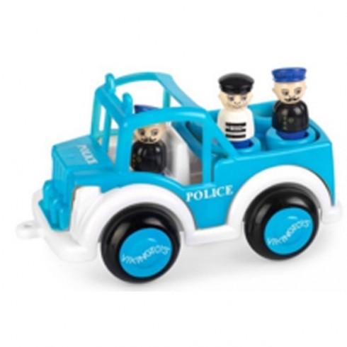 Masina politie VikingToys Jumbo cu 3 figurine
