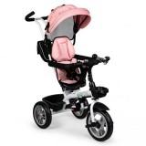 Tricicleta cu sezut reversibil Ecotoys JM-322 roz