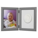 Kit mulaj amprenta Baby HandPrint Memory Frame silve