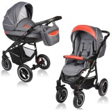 Carucior Vessanti Crooner 2 in 1 red gray