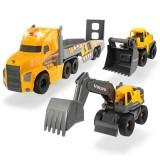Camion Dickie Toys Mack Volvo Heavy Loader Truck cu remorca, buldozer si camion basculant {WWWWWproduct_manufacturerWWWWW}ZZZZZ]