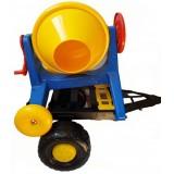Jucarie betoniera Super Plastic Toys Hobby Work cu platforma transport
