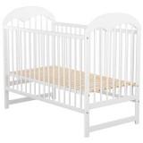 Patut copii din lemn Babyneeds Oskar 120x60 cm alb