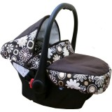 Scaun auto Kidcity Camarade maro cu floricele