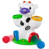 Jucarie Bright Starts Vacuta Drop & Giggle Cow