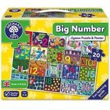 Puzzle de podea Orchard Toys Invata numerele de la 1 la 20