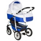 Carucior Pj Baby Pj Stroller Comfort 3 in 1 white blue