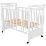 Patut copii din lemn Babyneeds Jas 120x60 cm alb