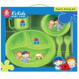 Set pentru luat masa K's Kids 5 piese Verde
