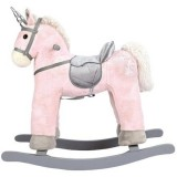 Calut balansoar din lemn Bino Unicorn roz