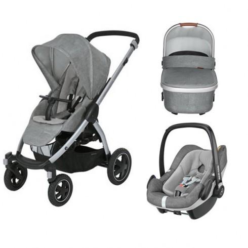 Pachet Maxi Cosi Stella carucior landou scaun auto nomad grey