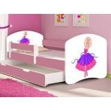 Pachet Patut MyKids Ballerina cu sertar si Saltea 140x70 cm