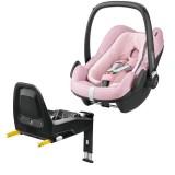 Pachet Scaun auto Maxi Cosi Pebble Plus I-Size blush cu baza auto 2wayFix