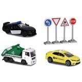 Set Majorette Diorama City cu 3 masinute si 4 indicatoare rutiere {WWWWWproduct_manufacturerWWWWW}ZZZZZ]