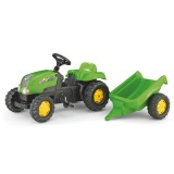 Tractor cu remorca Rolly Toys 012169 verde