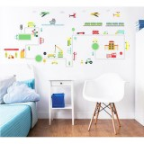 Kit decor Walltastic Sticker Transport (