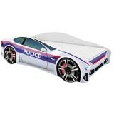 Patut MyKids Car Police 140x70 cu Saltea