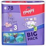 Scutece Happy 3 big pack midi 78 buc pentru 5-9 kg