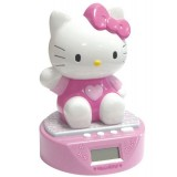 Ceas cu alarma si pusculita Fun House Hello Kitty