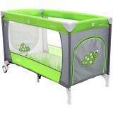 Patut pliabil cu doua nivele Coto Baby Samba Plus verde